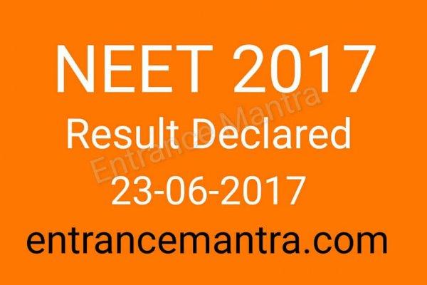 NEET 2017 result